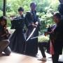 京都 閑臥庵にて侍ショー
